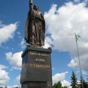 Монументальная скульптура фото. Статуя из бронзы Иоанна Путивльского, высота 7 метров, фото установленной скульптуры. Продажа монументальной скульптуры высокого качества, с гарантией 10 лет в Киеве сегодня. Цена монументальной скульптуры доступна.