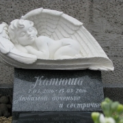 Скульптура ребёнка. Фото ангела из полимера. Продажа ангелов из полимера - в магазине ритуальной скульптуры в Киеве.