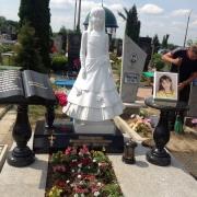 Фото скульптуры на кладбище. Производство скульптуры из мрамора в Киеве.