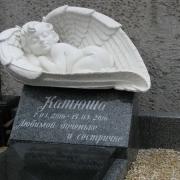 Размер ангела из полимера - 82 х 45 х 50 см. Купить ангела из полимера - можно в Магазине ритуальной скульптуры в Киеве.