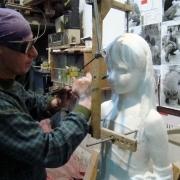 Изготовление скульптуры ребёнка. Фигура ребёнка из белого мрамора.