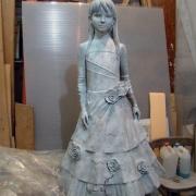 Изготовление скульптуры в Киеве. Высота скульптуры ребёнка - 120 см.