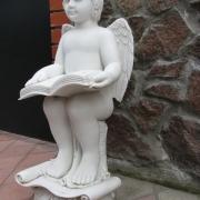 Скульптура детей. Фигура ангела из мрамора, фото в магазине скульптуры. Высота скульптуры ангела, 70 см. Цена ангела, договорная.