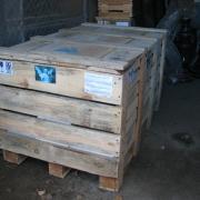 Статуя  Ангела готовая к перевозке по Украине. Качественная фирменная упаковка скульптуры в деревянных ящиках, фото на складе перед отправкой ангела адресной доставкой.