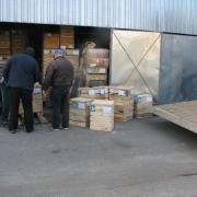 Готовая скульптура ангелов, упакована в деревянные фирменные ящики на складе ЧП Прядко в Киеве. Качественная дотавка скульптуры ангелов по Украине.