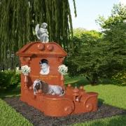 На фото 3д дизайн памятника. 3D проект ритуального комплекса со скульптурой, класса ВИП.  Изготовление 3д проектов в Киеве за 3 рабочих дня. Стоимость такого проекта 1 тыс. грн.