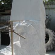 Рабочий момент изготовления скульптуры ангела. Фото ангела из мрамора; перевод фигуры в мрамор. Качественный ангел из белого мрамора; от профессионалов в Киеве.