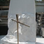 Рабочий момент изготовления ангела в цеху. Фото ангела из мрамора. Качественные ангела из белого мрамора; производство скульптуры в Киеве, с гарантией.