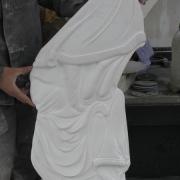 Барельеф на памятник фото в мраморе. Размеры барельефа из мрамора: высота барельефа для памятника 80 см., ширина барельефа 40 см., глубина барельефа 6 см. Цена барельефа для памятника $1,3 тыс.