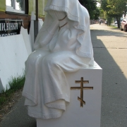 Фото скульптуры из полимера после изготовления в цеху. Размер скульптуры: 125 х 50 х 50 см. Вес статуи 45 кг. Цена скульптуры из полимера, 27 тыс. грн. Заказать скульптуру из полимера, можно прямо с сайта.