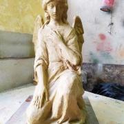 Фото ангела. Высота модели ангела из полимера - 37 см. Цена ангела из полимера - доступна.