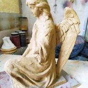 Высота модели ангела - 37 см. Размер ангела из полимера - 37 х 19 х 23 см. Цена ангела доступная.