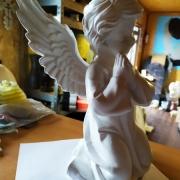 Фото ангела из полимера. Высота ангела из полимера - 28 см.