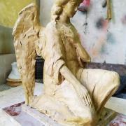 Купить ангела из полимера - можно в Магазине Ритуальной скульптуры в Киеве, ул. Стеценко, 18.