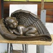 Детская скульптура из полимера. Высота скульптуры ангела - 45 см. Стоимость ангела из полимера в Киеве - $1 тыс.