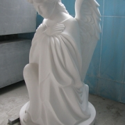Высота скульптуры ангела - 85 см. Цена ангела - доступная.