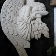 Барельеф скорбящего ангела для памятника. Высота барельефа скорбящего ангела - 75 см. Цена скорбящего ангела для памятника - $350.