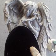 Скульптура ангела. Высота скульптуры ангела - 150 см. Цена ангела из чёрного габбро - доступна.