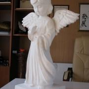 Фото скорбящего ангела из мрамора. Размер ангела для памятника 60 см. Цена ангелочка для памятника доступна.