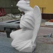 Ангел из мрамора фото. Высота мраморного ангела - 60 см. Цена скульптуры ангела в Киеве сегодня: $4 тыс.