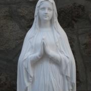 Фигура Божьей Матери из бетона, высота фигуры 130 см., цена скульптуры 29 тыс. грн. Всегда в наличии на складе; продажа статуй в магазине Ритуальной скульптуры в Киеве.