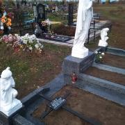 Скульптура Богородицы, ангелов из бетона - фото. Размер статуи для памятника - согласно проекта. Цена скульптуры из бетона - доступна.