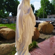 Галерея скульптуры. Статуя Богородицы. Высота скульптуры Богородицы - 130 см.