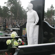 Мраморная статуя на кладбище фото, установленной скульптуры. Ассортимент скульптуры из мрамора в Галерее статуй. Изготовление статуй из белого мрамора в Киеве.