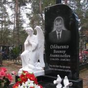 На фото галерея скульптуры.  Статуя ангела из бетона на кладбище. Ритуальный комплекс со скульптурой, цена 66 тыс. грн.