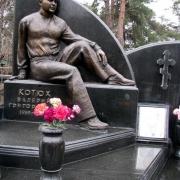 Фото фигуры из бронзы на памятник. Бронзовая фигура на кладбище фото после установки памятника. Цена бронзовой скульптуры - доступна.