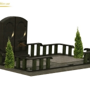 Готовый 3д проект ритуального комплекса. 3d модели памятников; фото памятников в 3д. Модель ритуального комплекса в 3д; цена 3д проекта 1,5 тыс. грн.