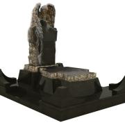 3д проект памятника с ангелом. Создание модели ритуального комплекса с ангелом фото. Варианты дизайна ангела из гранита. Цена 3D проекта комплекса из гранита сегодня 1200 грн.