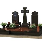 Готовый 3D проект ритуального комплекса при захоронении на троих. Создание качественных 3д проектов в Киеве сегодня; стоимость под ключ 3d проекта составляет, от 1,3 тыс. грн.
