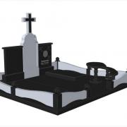 Ритуальный комплекс на двоих фото. Заказ дизайна памятника в Киеве. На фото 3d модель памятника. Доступная цена 3д проекта в Киеве сегодня: 1,3 тыс. грн.