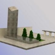 На фото 3д проект мемориального комплекса. Доступная цена 3д проекта 1,2 тыс. грн. Изготовление памятников под заказ в Киеве.
