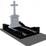 3д дизайн памятника на одного. Стиль и дизайн памятника - согласно проекта.