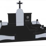 На фото ритуальный комплекс на двоих. Заказ дизайна памятника по эскизу, срок изготовления 10 дней. Цена готового 3d проекта в Киеве, 1,3 тыс. грн.