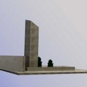 Фото 3д проекта мемориального комплекса. Доступная цена 3д проекта памятника 1,2 тыс. грн. Создание памятников по индивидуальному заказу в Киеве.