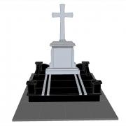 3д модель памятника на одного. Размеры памятника на одного, по дизайнерскому проекту.