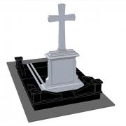 Обратная сторона памятника. Стиль и дизайн памятника - согласно проекта.