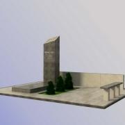 На фото 3д модель памятника. Доступная цена 3д проекта памятника 1,2 тыс. грн. Заказать памятник можно прямо с сайта.