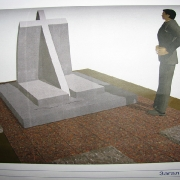 Вариант 3d проекта памятника в индивидуальном исполнении. Создание 3д проекта памятника по предварительным эскизам и рабочим чертежам; срок изготовления 3 дня. Цена проекта, от 500 грн.