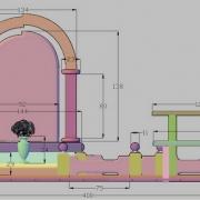 Изготовление 3д эскиза (фронтальный вид), в процессе производства элитного комплекса из гранита Лезники и чёрного габбро. Создание 3D дизайна памятника в Киеве сегодня за 3 дня; стоимость эскиза памятника, от 600 грн.