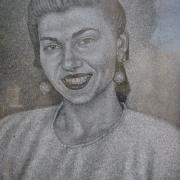 Портрет сестры на памятнике. Ручная работа, срок изготовления 5 дней, цена портрета 800 грн.