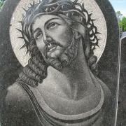 Фото иконы на памятник. Размер иконы для памятника - 50 х 70 см. Цена иконы на памятнике - 2800 грн.