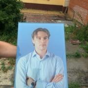 Портрет в стекле для памятника. Высота портрета в стекле - 60 см. Цена портрета в стекле - 5 тыс. грн.