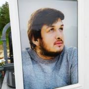 Фото в стекле для памятника. Размер портрета в стекле - 35 х 45 см.