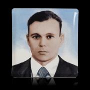 Цветной портрет на керамике, размер 20 х 20 см.; стоимость цветного портрета для памятника 320 грн., гарантия 10 лет.