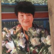 Фото женщины для памятника. Размер фото на керамике 40 х 60 см. Цена портрета из керамики 3950 грн.